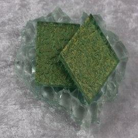 """Glasmozaïek Pearl Sparkle 2,5 x 2,5 cm - Army Green -""""S"""""""