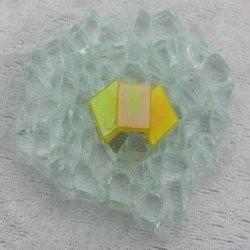 """- Nebula 1 x 1 cm - Mini  Yellow-Citirine-""""S"""""""