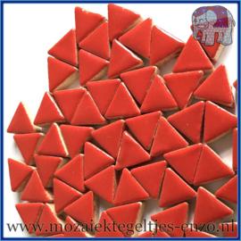 Keramische mozaiek steentjes - Triangles Driehoekjes Normaal - 15 mm - Enkele Kleuren - per 50 gram - Poppy Red