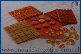 Mozaiek Kleur Pakket  Parelmoer - Oranje