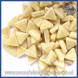 Glasmozaiek steentjes - Art Angles Parelmoer - 10 mm - Enkele Kleuren - per 50 gram - Cream