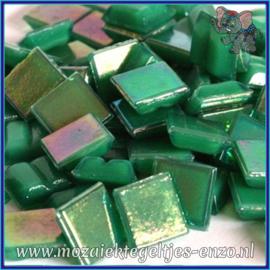 Glasmozaiek tegeltjes - Parelmoer - 1 x 1 cm - Enkele Kleuren - per 60 steentjes - Mini Jade Green