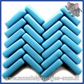 Glasmozaiek steentjes - Stix Rechthoekjes Staafjes Normaal - 6 x 20 mm - Enkele Kleuren - per 50 gram - Soft Turquoise