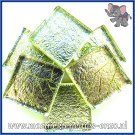 Glasmozaiek tegeltjes - Foil - 2 x 2 cm - Enkele Kleuren - per 20 steentjes - Arsenic
