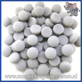 Glasmozaiek steentjes - Optic Drops Matte - 12 mm - Enkele Kleuren - per 50 gram - Grey