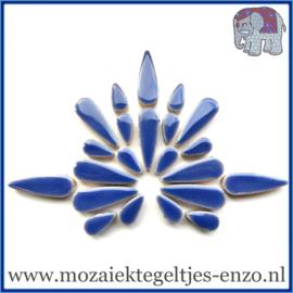 Keramische mozaiek steentjes - Keramiek Teardrops Druppels Normaal - 15 en 30 mm - Enkele Kleuren - per 50 gram - Delphinium