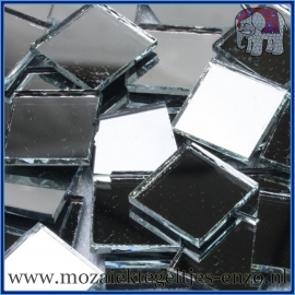 Spiegel mozaiek steentjes - per 50 gram - 1,5 x 1,5 cm