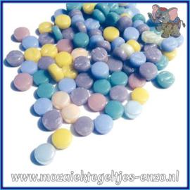 Glasmozaiek Pixel steentjes - Darling Dotz Normaal - 0,8 cm - Gemixte Kleuren - per 50 gram - Spun Sugar