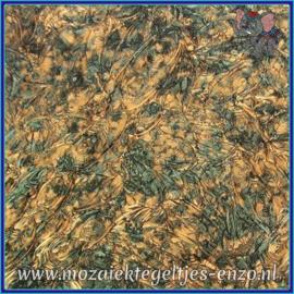 Plaatglas - Van Gogh Glass Normaal - 5 x 10 cm - Gemixte Kleuren - per 1 stuk - Green Bronze
