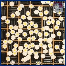 Cabochon hars plaksteen - Platte onderkant - Unlimited edition - per 1 stuk - Margriet (1)