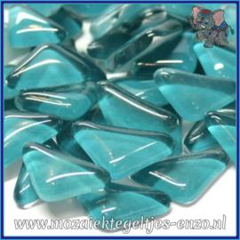Glasmozaiek steentjes - Soft Glass Puzzles Normaal - Enkele Kleuren - per 50 gram - Bright Aqua