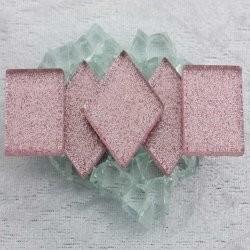 "- Glitter 2 x 2 cm - Princess-Pink-""S"""