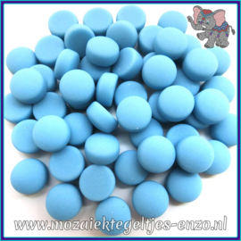 Glasmozaiek steentjes - Optic Drops Matte - 12 mm - Enkele Kleuren - per 50 gram - Turquoise