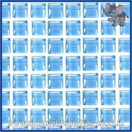 Glasmozaiek tegeltjes - Murrini Crystal - 1 x 1 cm - Enkele Kleuren - per 60 steentjes - Mini Turquoise