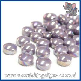 Glasmozaiek steentjes - Optic Drops Parelmoer - 12 mm - Enkele Kleuren - per 50 gram - Lilac