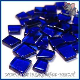 Glasmozaiek steentjes - Transparant Glass Puzzles Normaal - Enkele Kleuren - per 50 gram - R &-B Cobalt