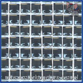 Glasmozaiek tegeltjes - Murrini Crystal - 1 x 1 cm - Enkele Kleuren - per 60 steentjes - Mini Antique Pewter