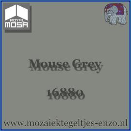 Binnen wandtegel Royal Mosa - Glanzend - 7,5 x 7,5 cm - Op maat gesneden - Mouse Grey 16880