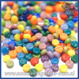 Glasmozaiek Pixel steentjes - Darling Dotz Normaal - 0,8 cm - Gemixte Kleuren - per 50 gram - Mixed Colours