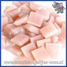 Glasmozaiek tegeltjes - Basic Line - 1 x 1 cm - Enkele Kleuren - per 60 steentjes - Mini Pink Blush A85