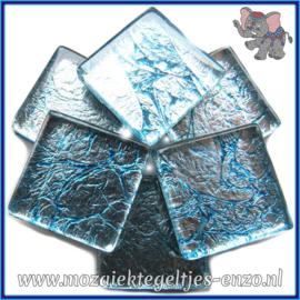Glasmozaiek tegeltjes - Foil - 2 x 2 cm - Enkele Kleuren - per 20 steentjes - Pale Sky