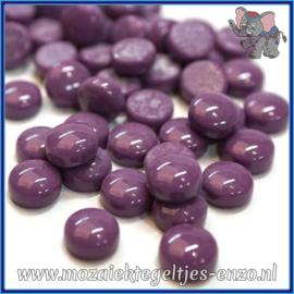 Glasmozaiek steentjes - Optic Drops Normaal - 12 mm - Enkele Kleuren - per 50 gram - Deep Purple