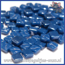 Glasmozaiek Pixel steentjes - Ottoman Parelmoer - 0,8 x 0,8 cm - Enkele Kleuren - per 50 gram - Deep Lake Blue