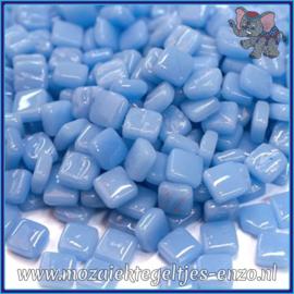 Glasmozaiek Pixel steentjes - Ottoman Normaal - 0,8 x 0,8 cm - Enkele Kleuren - per 50 gram - Pale Blue