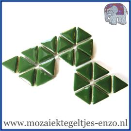 Keramische mozaiek steentjes - Triangles Driehoekjes Normaal - 15 mm - Enkele Kleuren - per 50 gram - Pesto