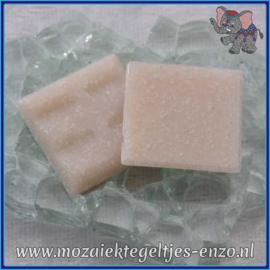 Glasmozaiek tegeltjes - Basic Line - 2 x 2 cm - Enkele Kleuren - per 20 steentjes - Peach Blossom A82