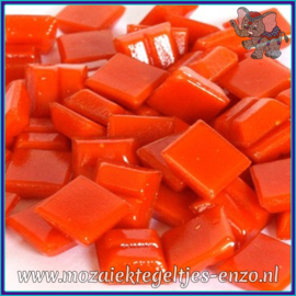 Glasmozaiek tegeltjes - Basic Line - 1 x 1 cm - Enkele Kleuren - per 60 steentjes - Mini Dark Orange A95