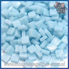 Glasmozaiek Pixel steentjes - Ottoman Matte - 0,8 x 0,8 cm - Enkele Kleuren - per 50 gram - Pale Aqua Blue
