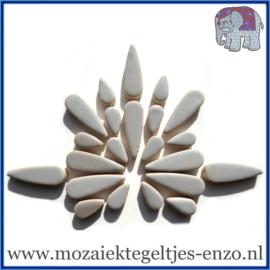 Keramische mozaiek steentjes - Keramiek Teardrops Druppels Normaal - 15 en 30 mm - Enkele Kleuren - per 50 gram - Dove Grey