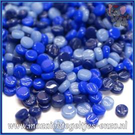 Glasmozaiek Pixel steentjes - Darling Dotz Normaal - 0,8 cm - Gemixte Kleuren - per 50 gram - Blueberry Bombe