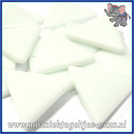 Glasmozaiek steentjes - Art Angles Normaal - 29 mm - Enkele Kleuren - per 1 stuk - White