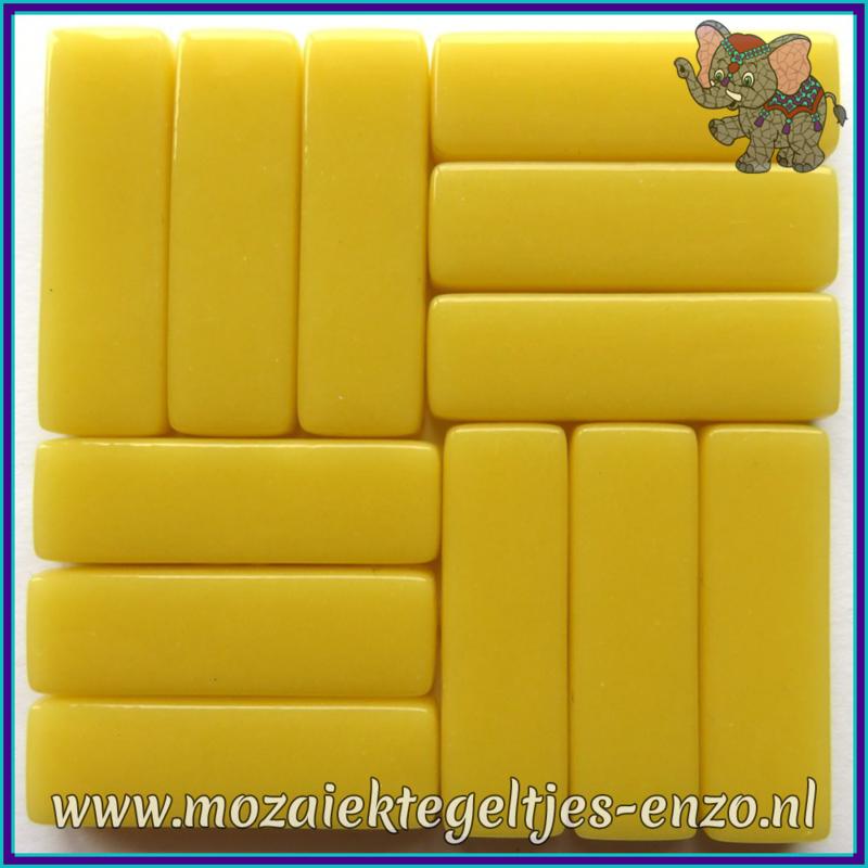 Glasmozaiek steentjes - Stix Rechthoekjes Staafjes XL Normaal - 12 x 38 mm - Enkele Kleuren - per 50 gram - Corn Yellow
