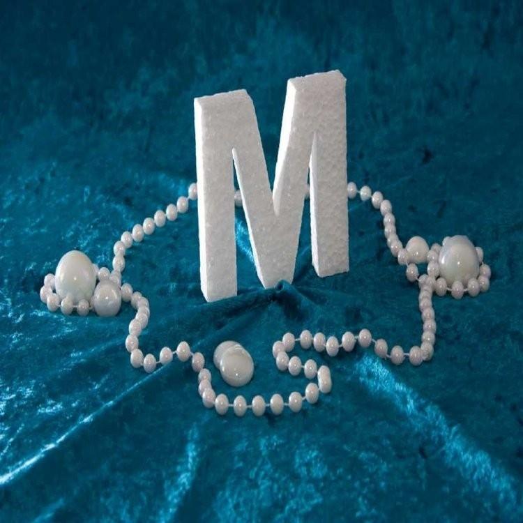 Piepschuim/Styropor - Letter M