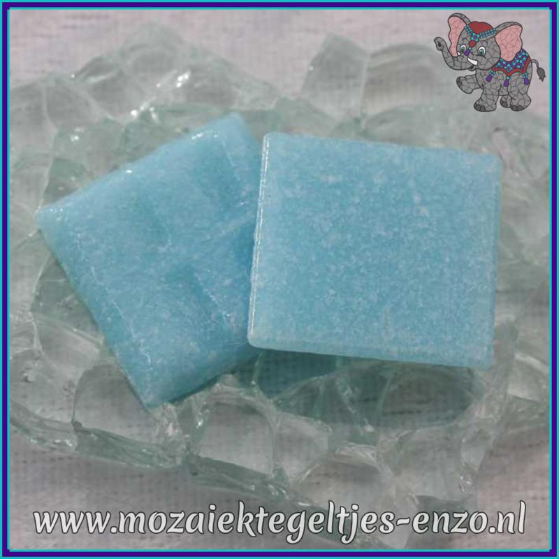 Glasmozaiek tegeltjes - Basic Line - 2 x 2 cm - Enkele Kleuren - per 20 steentjes - Aqua A12
