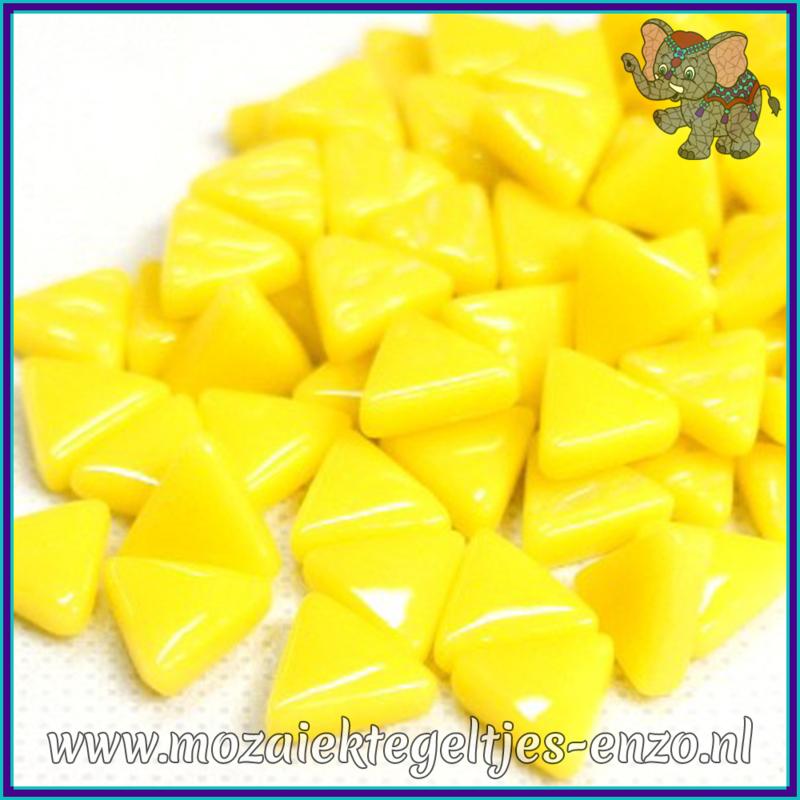 Glasmozaiek steentjes - Art Angles Normaal - 10 mm - Enkele Kleuren - per 50 gram - Opal Yellow