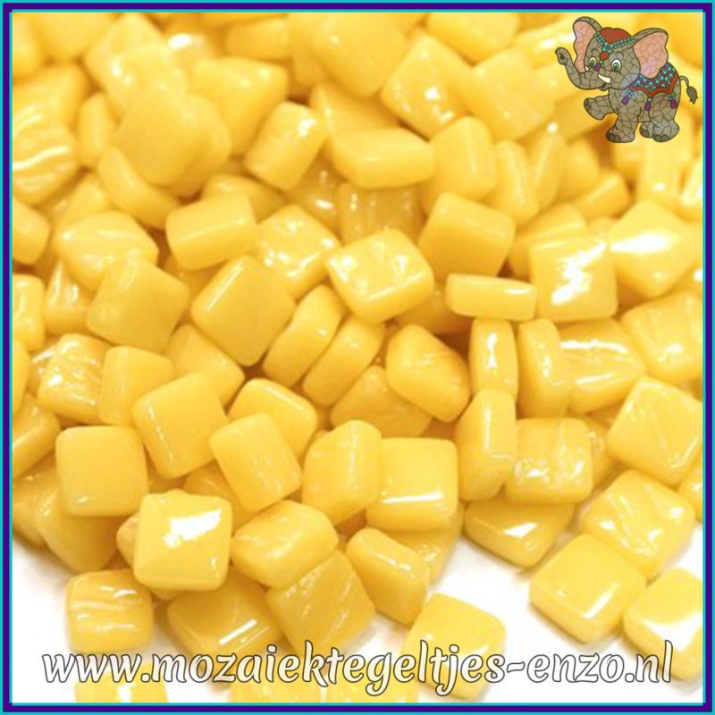 Glasmozaiek Pixel steentjes - Ottoman Normaal - 0,8 x 0,8 cm - Enkele Kleuren - per 50 gram - Corn Yellow