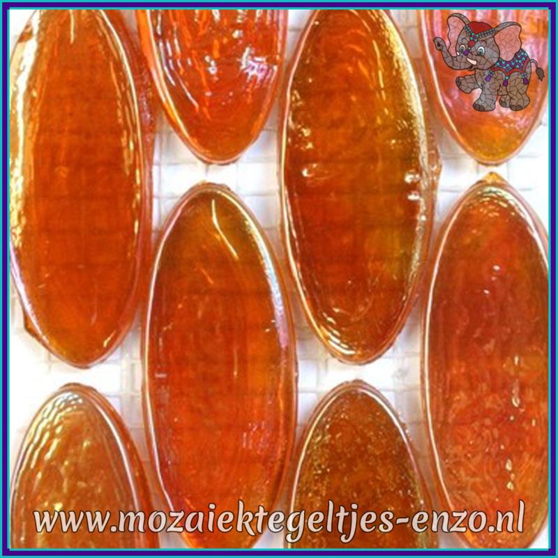 Glasmozaiek steentjes - Radiant Ellipse Parelmoer - 20 x 45 mm - Enkele Kleuren - per 1 stuk - Zanzibar