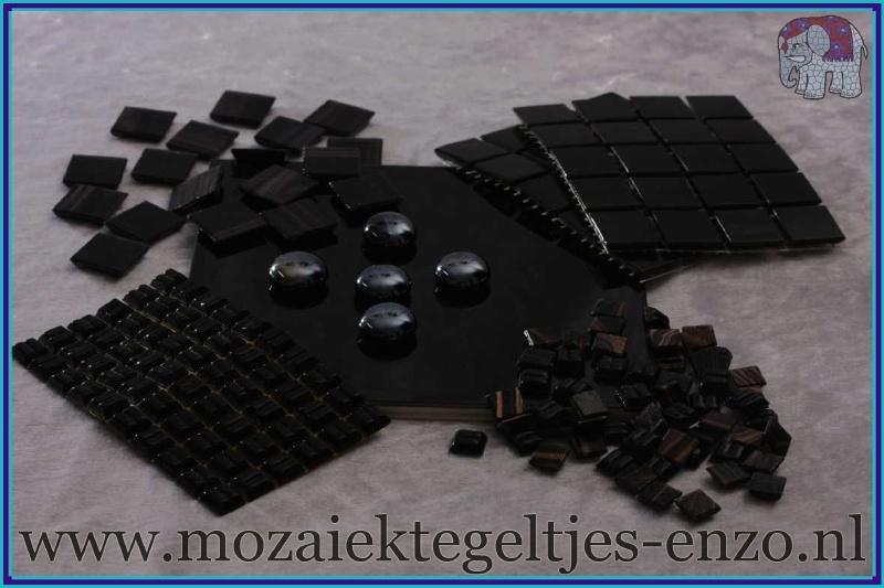 Mozaiek Kleur Pakket  Gold Line - Zwart