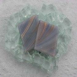 "- Goldlink 2 x 2 cm - Ultraviolet-Swirl-""S"""