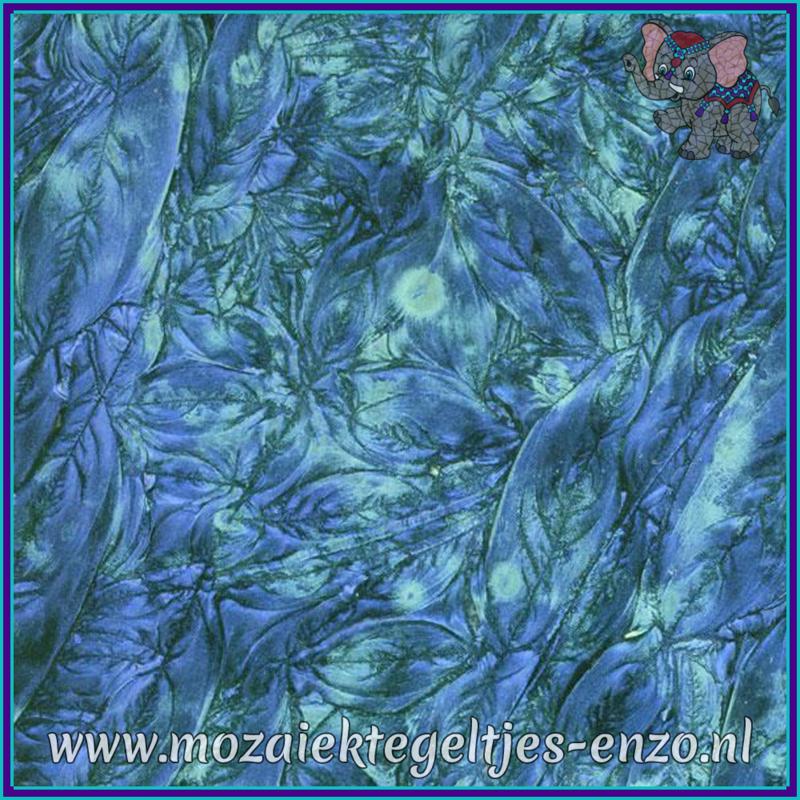 Plaatglas - Van Gogh Glass Normaal - 5 x 10 cm - Gemixte Kleuren - per 1 stuk - Blue Bluegreen