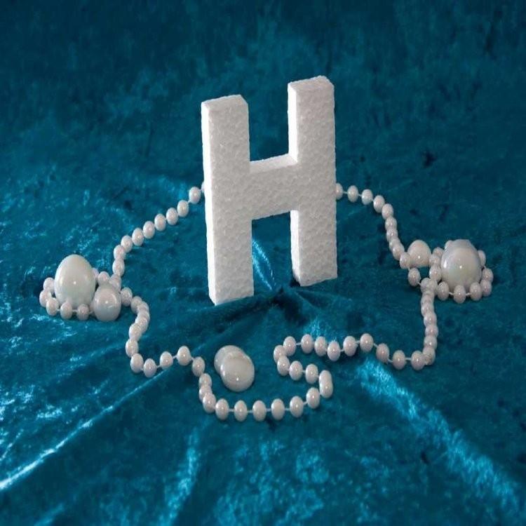 Piepschuim/Styropor - Letter H