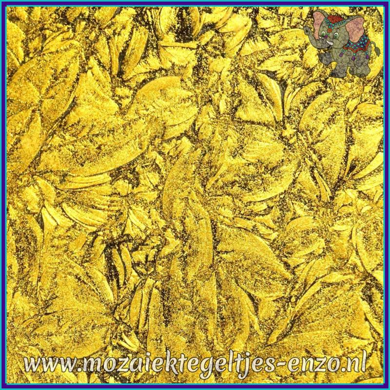 Plaatglas - Van Gogh Glass Normaal - 5 x 10 cm - Enkele Kleuren - per 1 stuk - Gold Sparkle