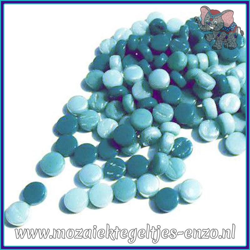 Glasmozaiek Pixel steentjes - Darling Dotz Normaal - 0,8 cm - Gemixte Kleuren - per 50 gram - Sea Foam