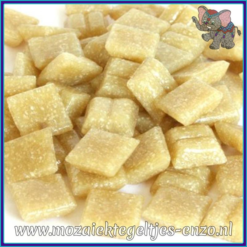 Glasmozaiek tegeltjes - Basic Line - 1 x 1 cm - Enkele Kleuren - per 60 steentjes - Mini Biscuit A32
