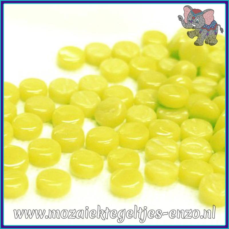 Glasmozaiek Pixel steentjes - Darling Dotz Normaal - 0,8 cm - Enkele Kleuren - per 50 gram - Yellow Green