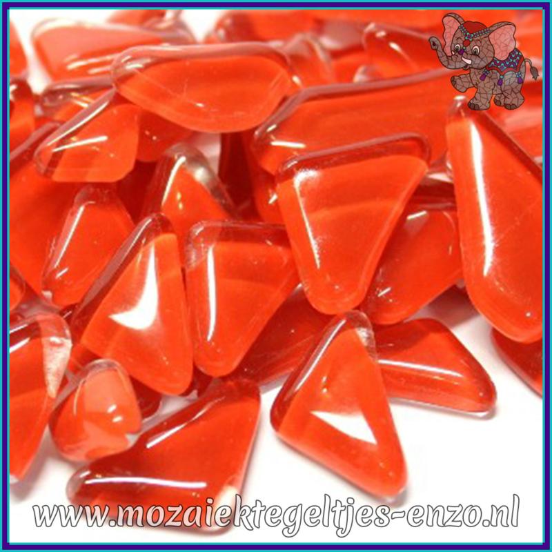 Glasmozaiek steentjes - Soft Glass Puzzles Normaal - Enkele Kleuren - per 50 gram - Brilliant Red